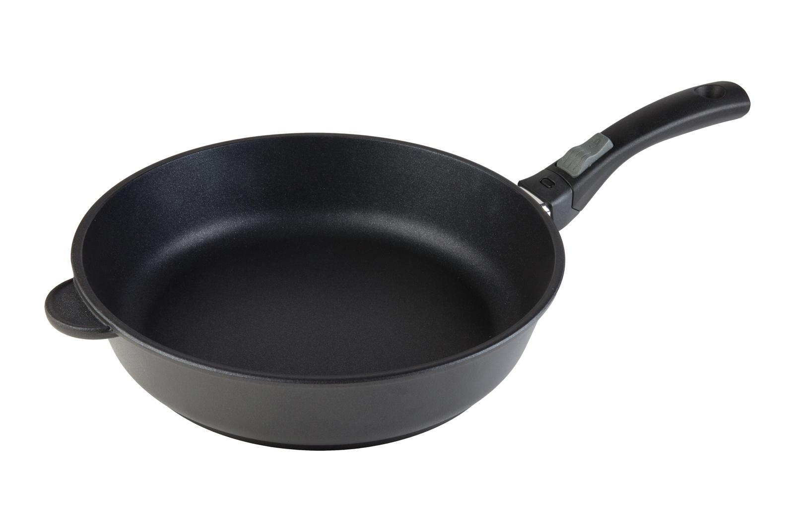 Литая толстостенная сковорода VIKTORIA Мечта 28 см. со съ/ручкой