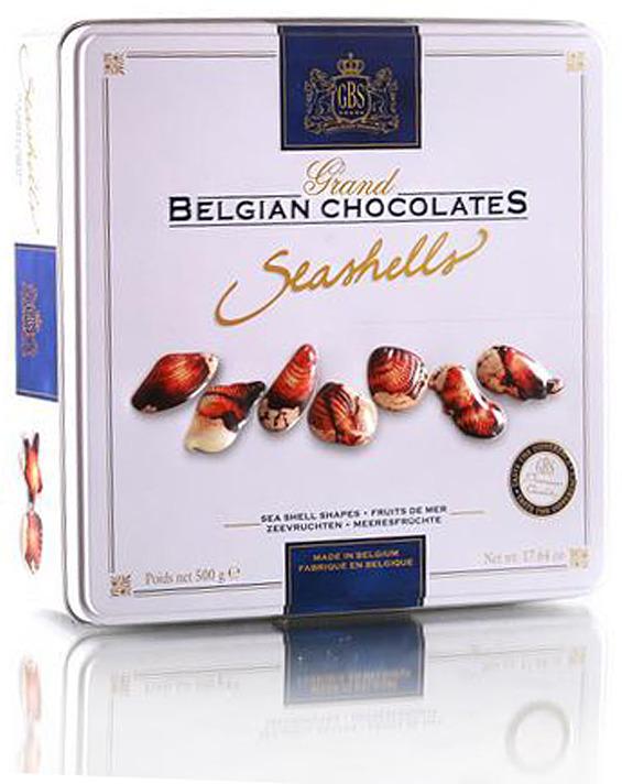 Набор шоколадных конфет GBS Дары моря, 500 г gbs конфеты фигурные из молочного шоколада с воздушным рисом и вкусом карамели 75 г