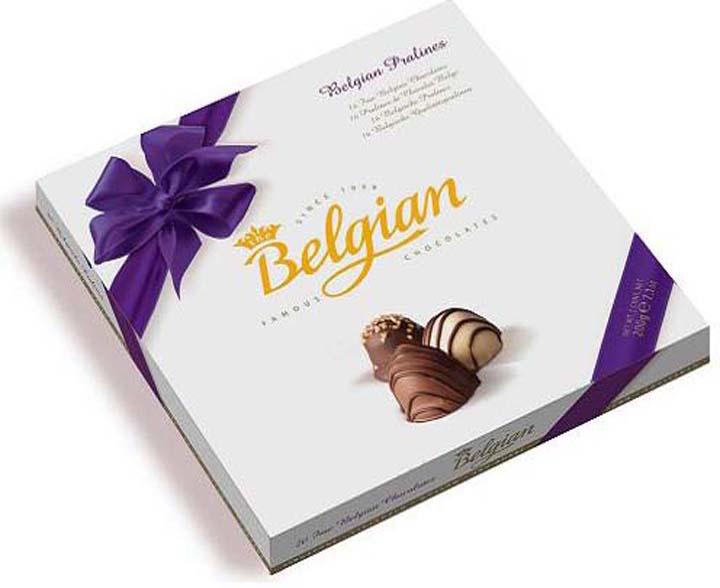 Набор шоколадных конфет The Belgian Пралине, 200 г merci набор конфет ассорти из шоколада с миндалем 250 г
