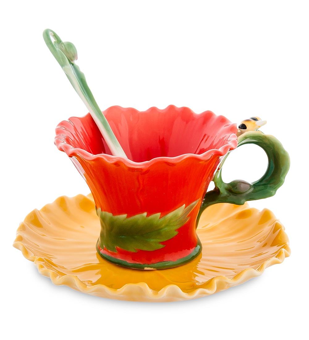 Кофейная пара Pavone Маки FM-07/ 1, 103812 fm 07 12 корзинка маки pavone
