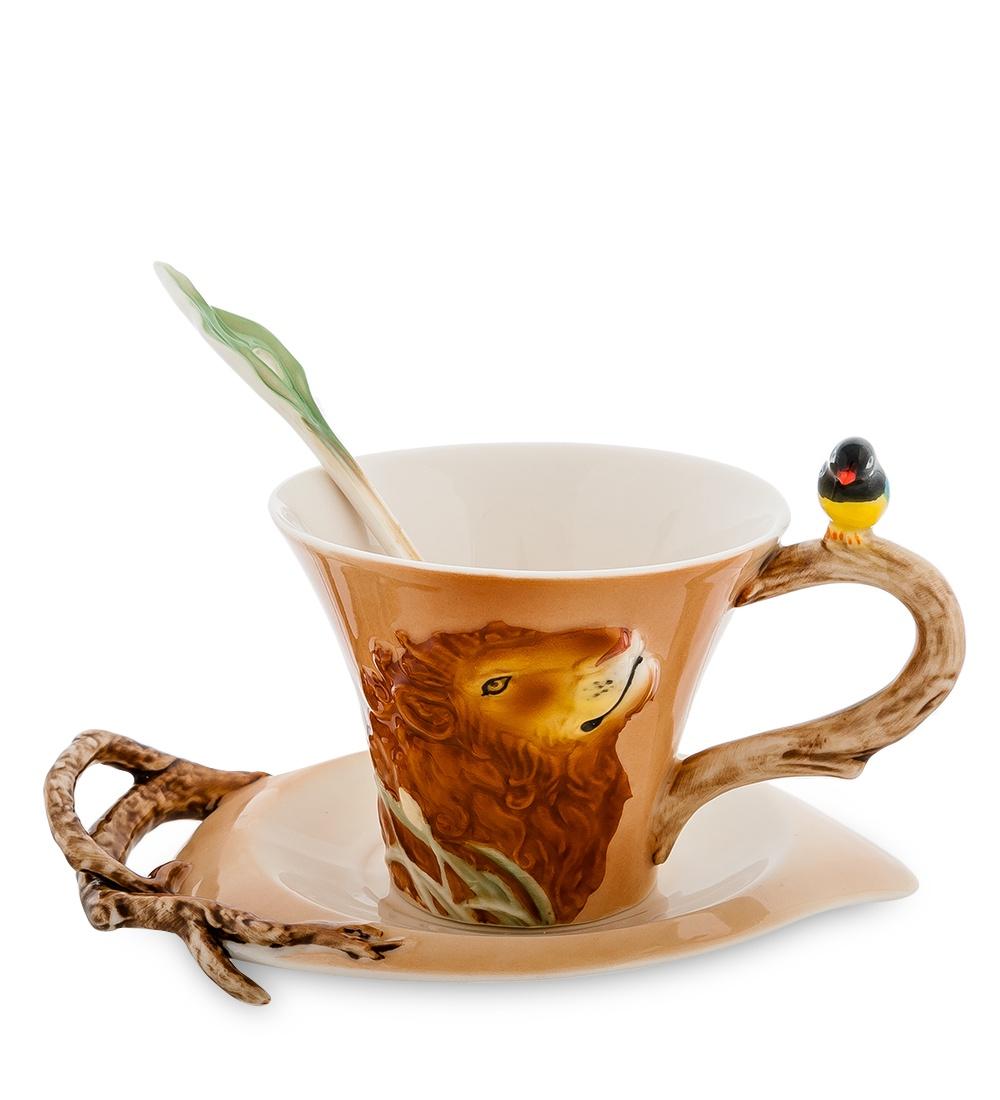 Фото - Кофейная пара Pavone Лев FM-32/ 3, 10844 [супермаркет] jingdong геб scybe фил приблизительно круглая чашка установлена в вертикальном положении стеклянной чашки 290мла 6 z