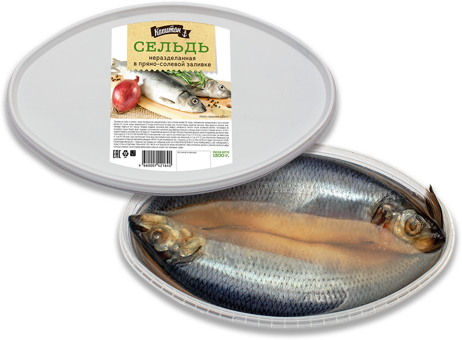 Сельдь Капитан, неразделанная, в пряно-солевой заливке, 1,3 кгЦБ-00000738Вкусный, домашний пряный маринад для сельди добавляет ее мясу неповторимый вкус из детства.