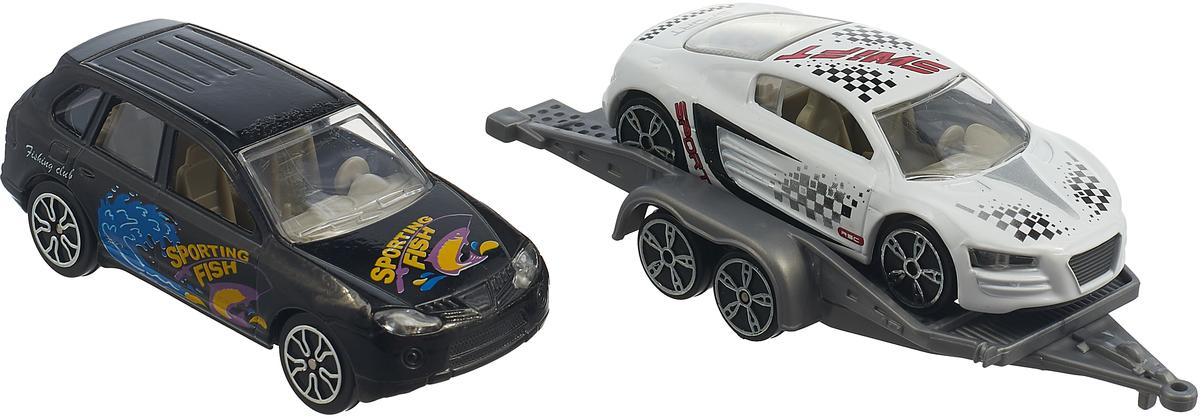 Набор машинок Pioneer Toys, PT2081, черный, белый, 2 шт