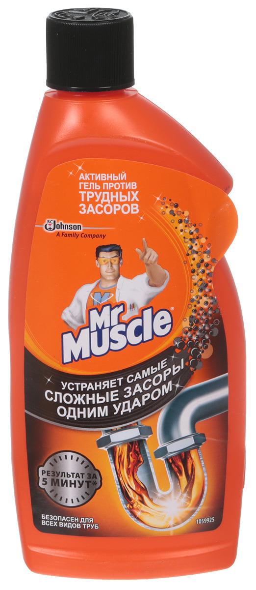 Средство для ванной и туалета Мистер Мускул, для засоренных тpуб, 500 мл средство д стекол мистер мускул спрей 0 5л