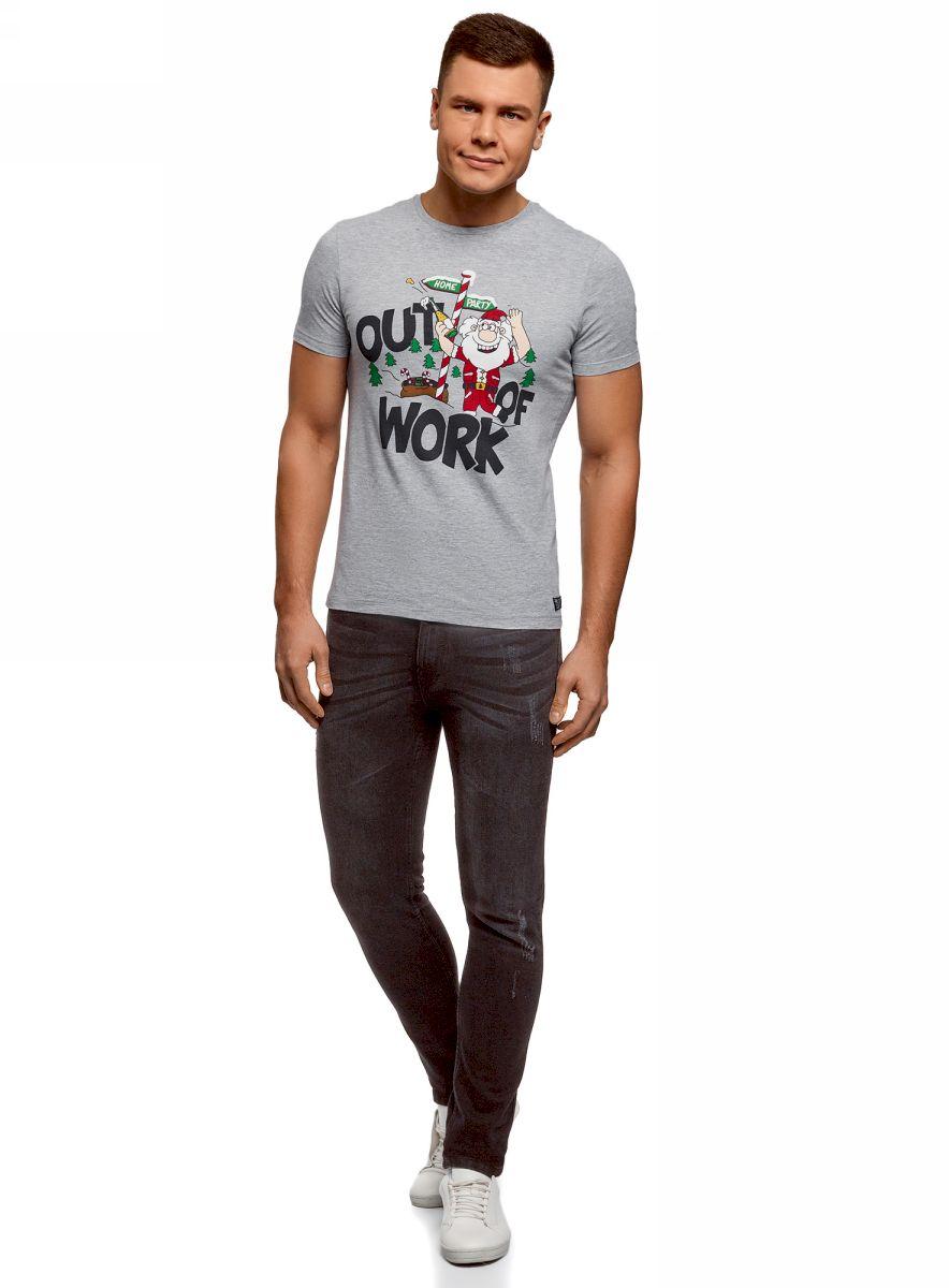 Футболка oodji valentino хлопковая футболка с принтом и пайетками