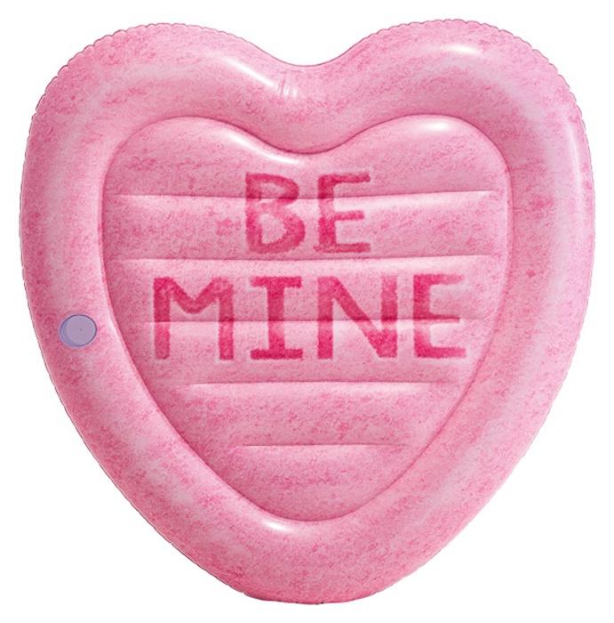 Матрас надувной для плавания Intex Сладкое сердце, 58789, розовый надувной матрас intex 198x160x33cm 56897