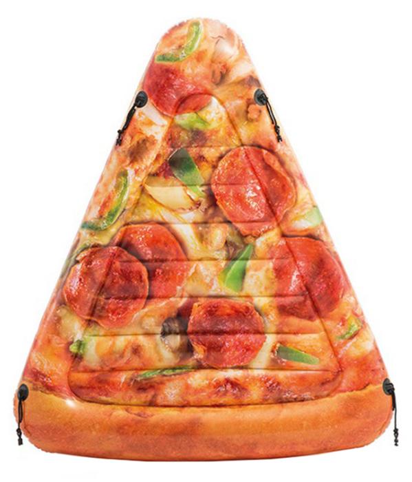 Матрас надувной для плавания Intex Пицца, 58752, коричнево-красный