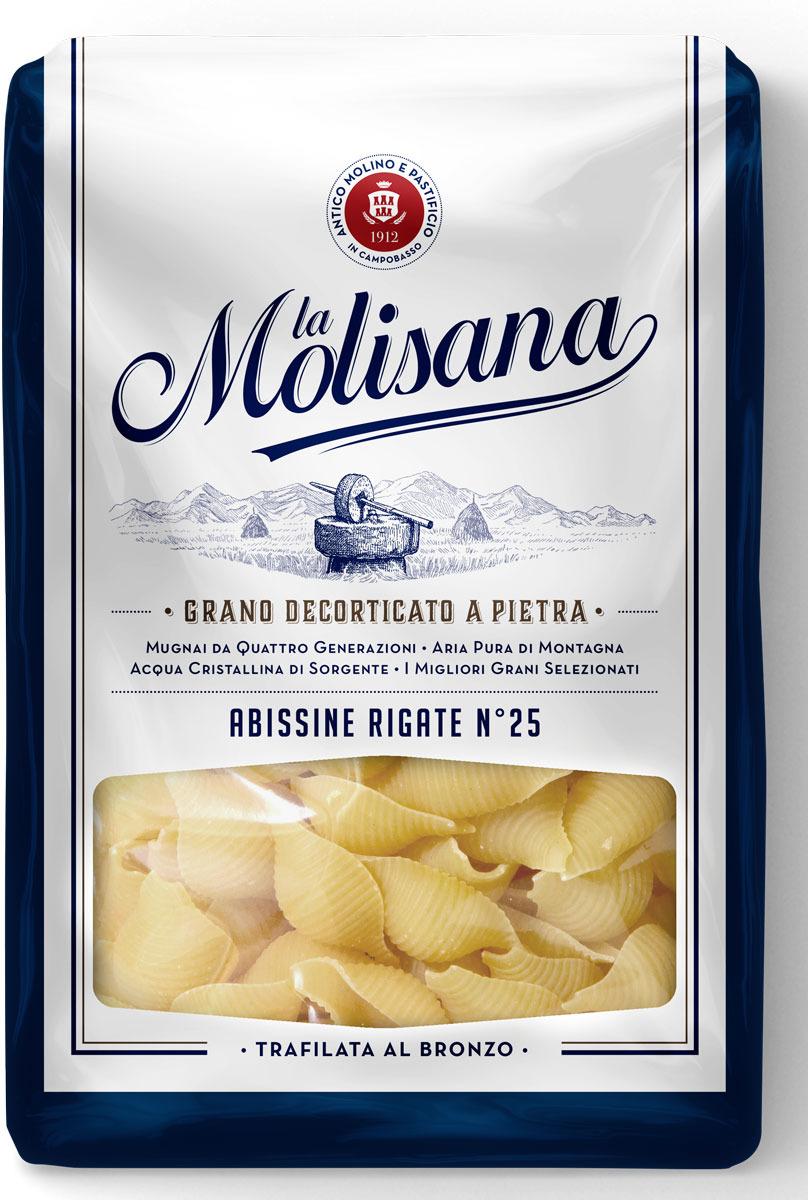 La Molisana Abissine Rigate ракушки рифленые макаронные изделия 500 г