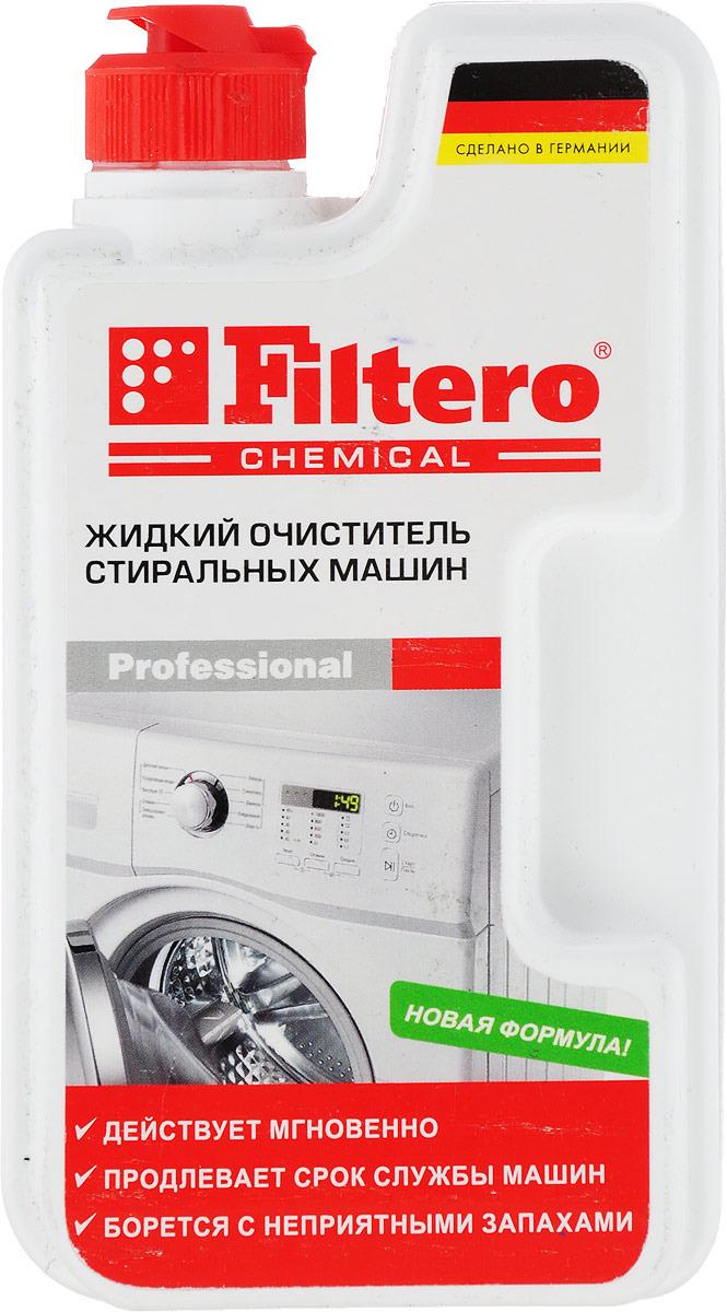 Filtero 902 жидкий очиститель для стиральных машин, 250 мл очиститель от накипи filtero арт 902 1шт 250мл для стиральных машин