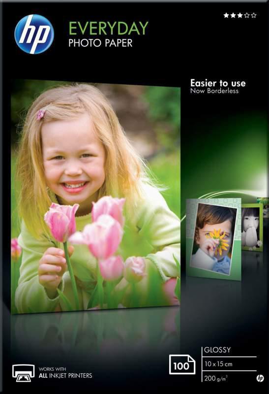 Фотобумага HP CR757A глянцевая, 10 x 15 см, 200 г/м2, 100 листов
