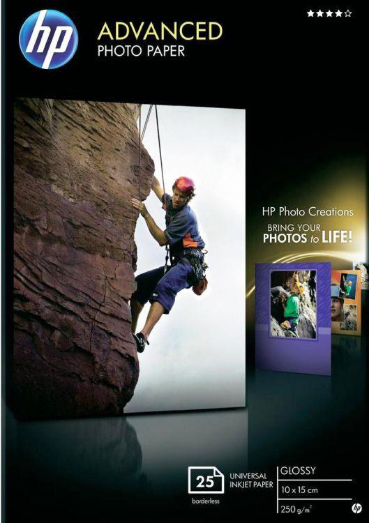 Фотобумага HP Q8691A, глянцевая, 10 х 15 см, 250 г/м2, 25 листов