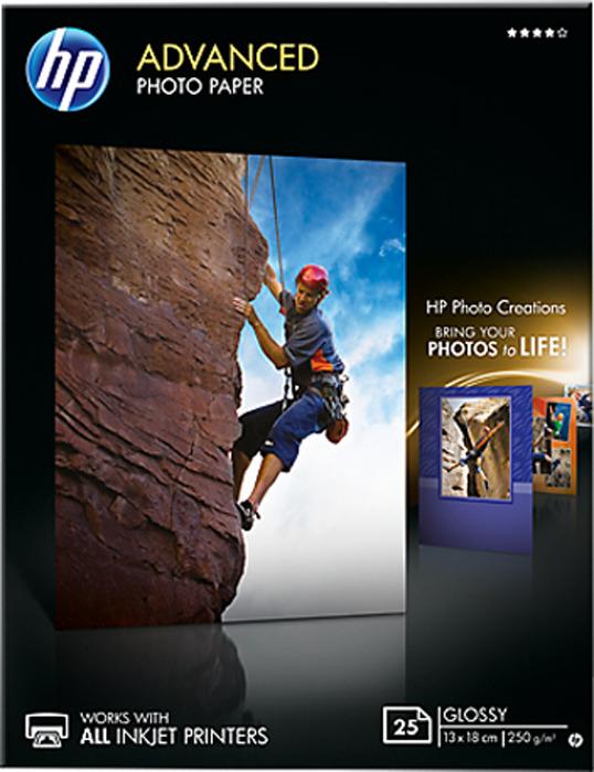 Фотобумага HP Q8696A глянцевая, 13 х 18 см, 250 г/м2, 25 листов