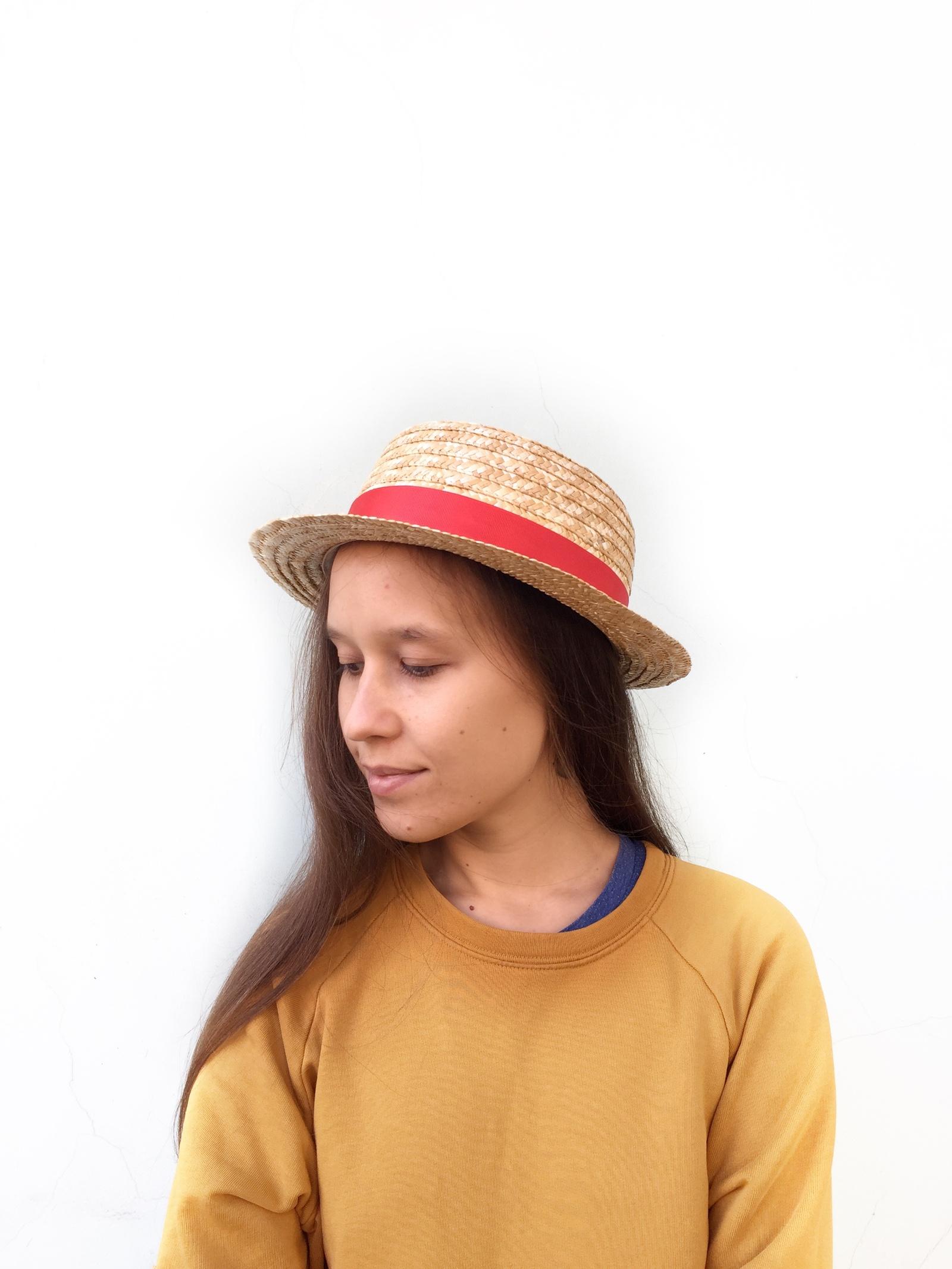 Соломенная шляпа Solomahat шляпа для игрушек 3488159 размер 10 см красный