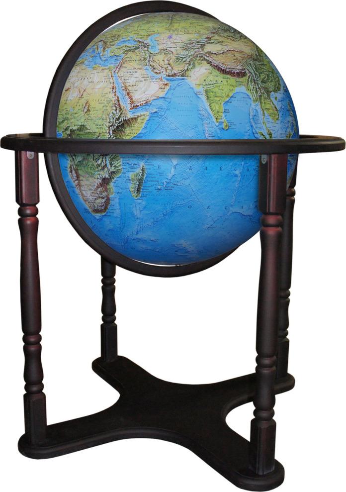 Глобус Глобусный мир Премиум, 10402, с физической картой мира, напольный, синий, диаметр 64 см глобус глобусный мир 10406 с физической картой мира с подставкой синий диаметр 64 см