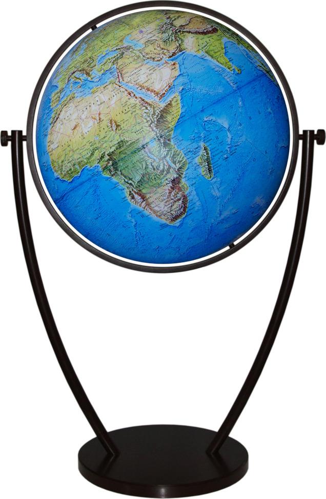 Глобус Глобусный мир Премиум металл, 10404, с физической картой мира, напольный, синий, диаметр 64 см глобус глобусный мир 10406 с физической картой мира с подставкой синий диаметр 64 см