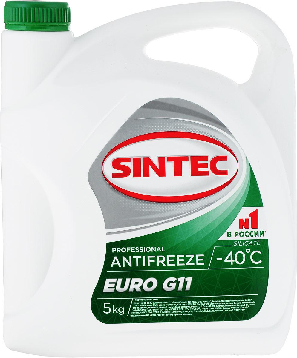 цена на Антифриз Sintec EURO G11, цвет: зеленый, 5 кг