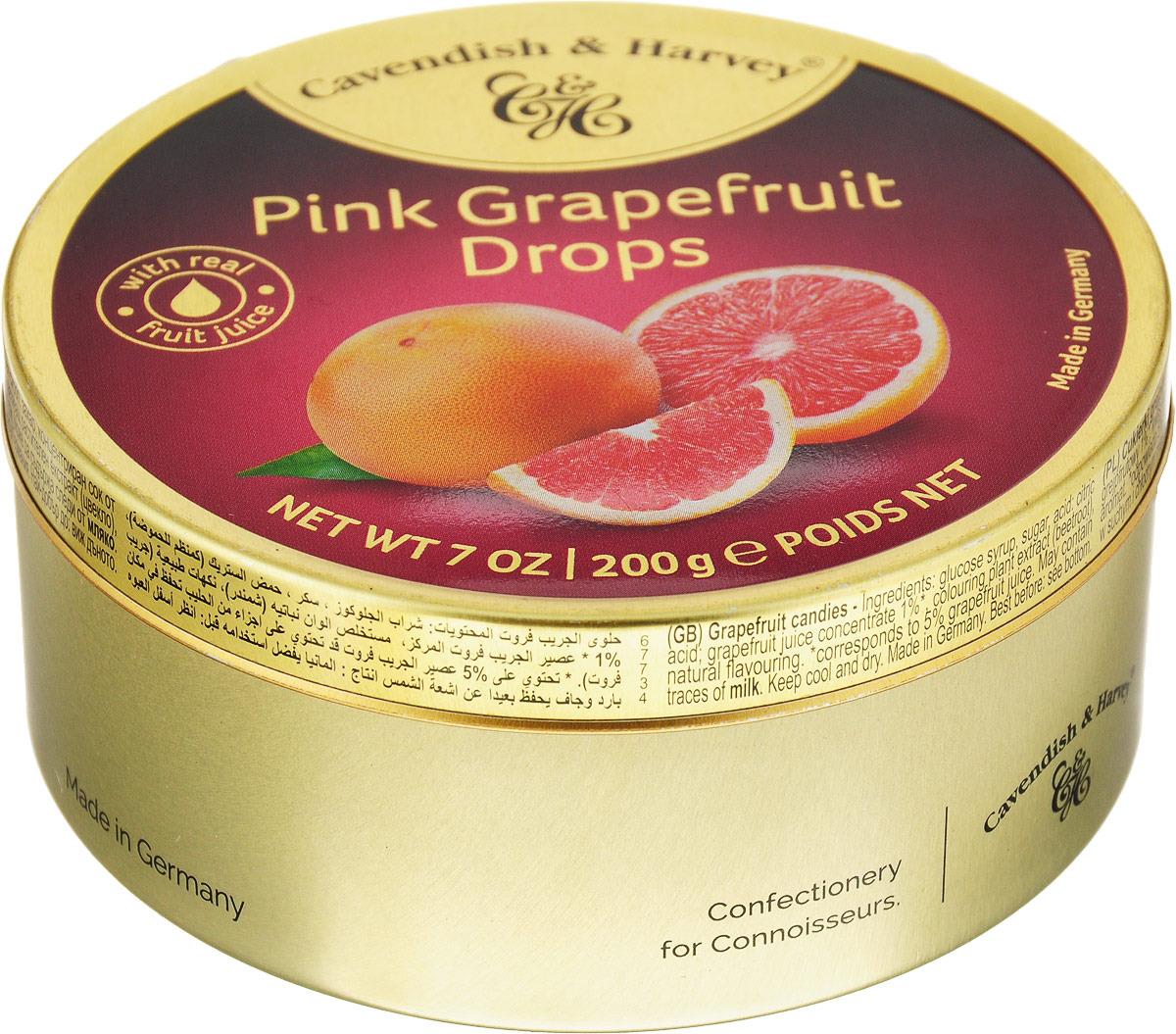 Cavendish & Harvey Розовый грейпфрут леденцы, 200 г cavendish