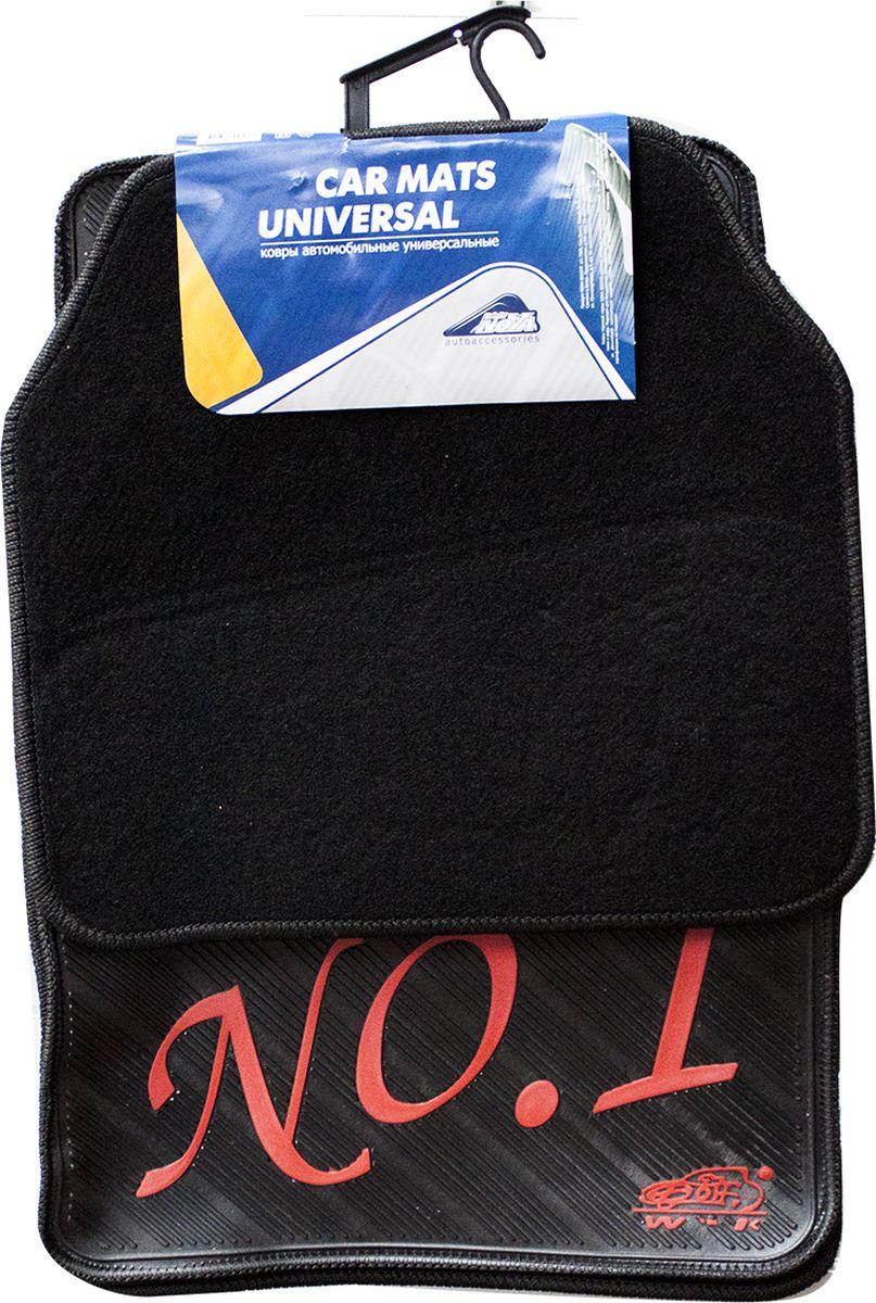 все цены на Коврики в салон автомобиля Nova Bright, 2-сторонние ворс, резина, с рисунком №1, 5 шт онлайн