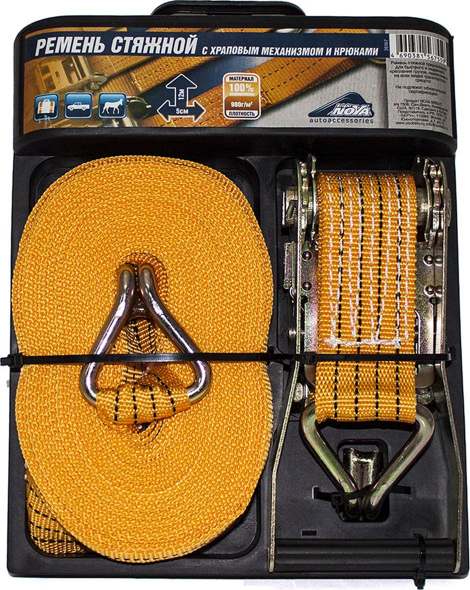 все цены на Ремень стяжной Nova Bright, 39367, оранжевый, 5 см х 12 м онлайн