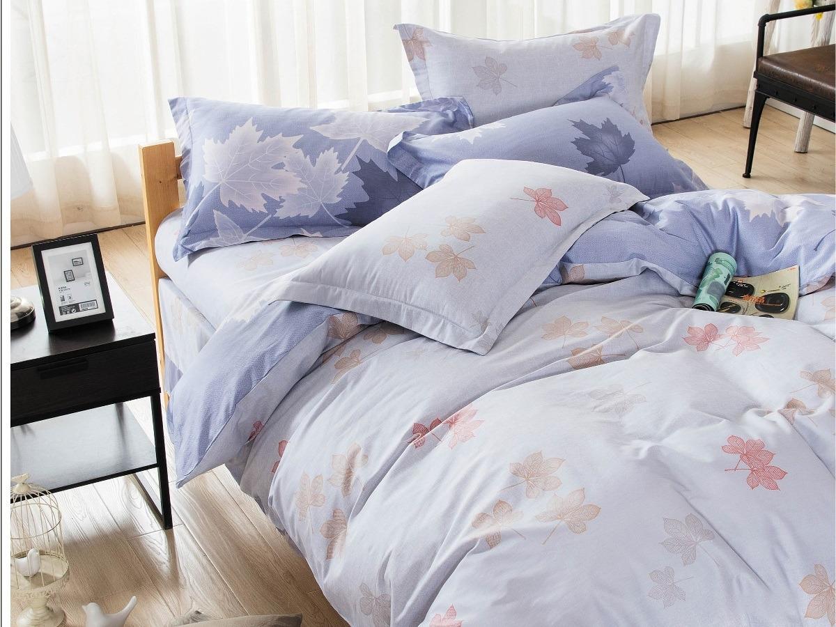 Комплект постельного белья Cleo Satin lux Кленовый лист 15/313-SL, сиреневый, 1,5-спальный, наволочки 70х70 постельное белье cleo satin lux 20 070 sl комплект 2 спальный сатин