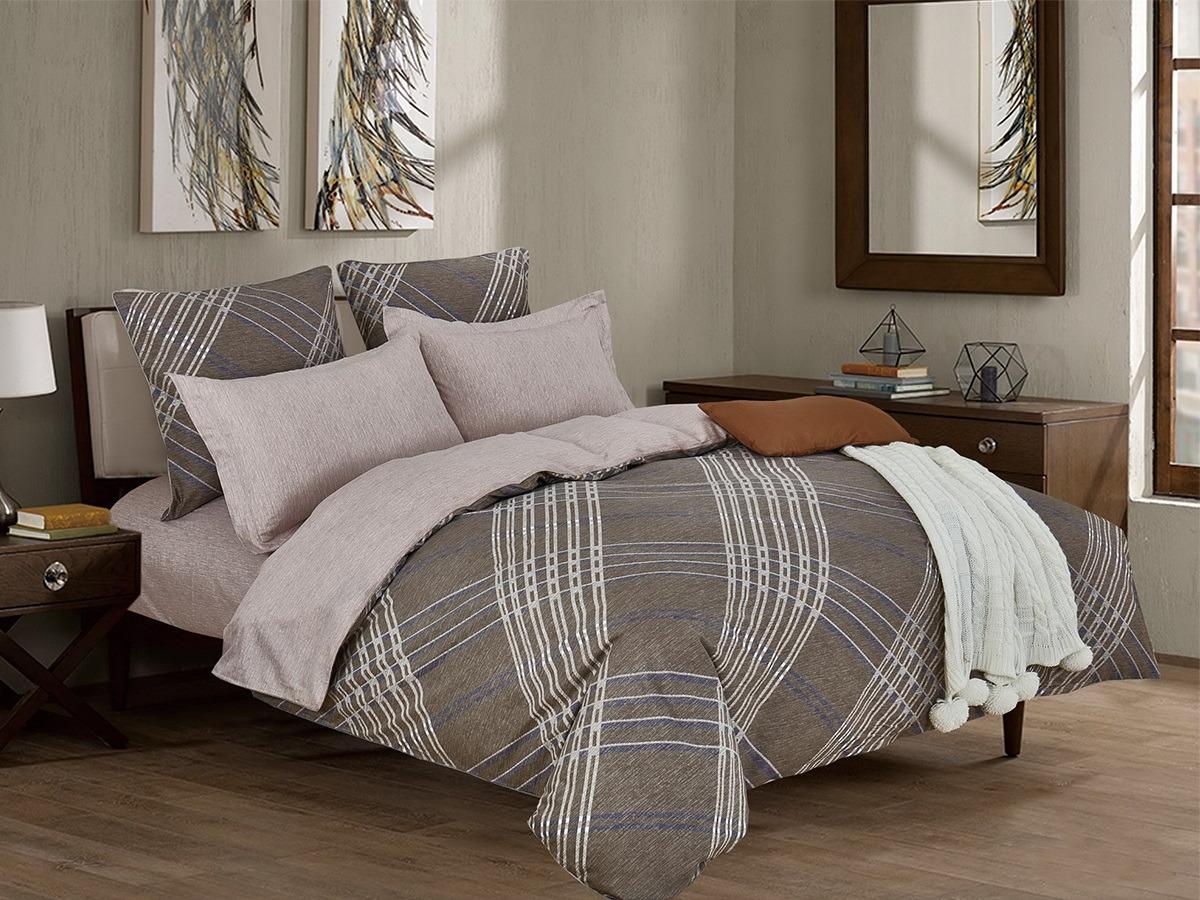 Комплект постельного белья Cleo Satin lux Роберто 15/323-SL, 1,5-спальный, наволочки 70х70 постельное белье cleo satin lux 20 070 sl комплект 2 спальный сатин