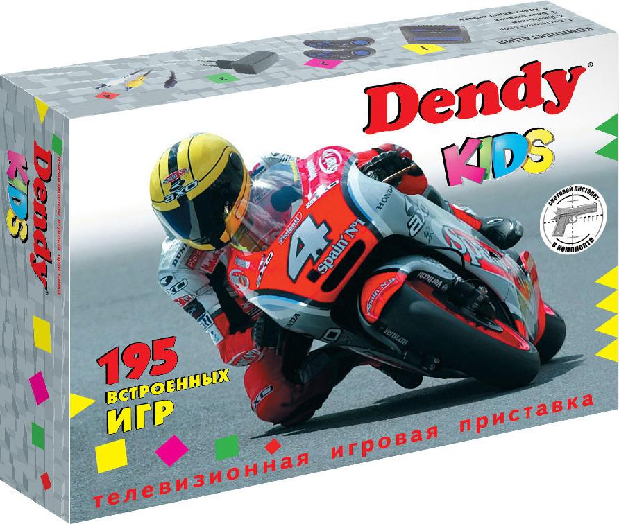 Игровая приставка DVTech Dendy Kids 195 игр + световой пистолет, DendyK195, черный DVTech