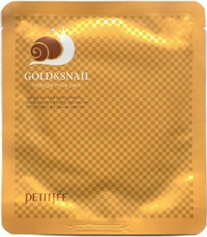 Petitfee Гидрогелевая маска для лица с золотом и улиточным муцином petitfee гидрогелевая маска для лица с золотом в одноразовой упаковке гидрогелевая маска для лица с золотом в одноразовой упаковке