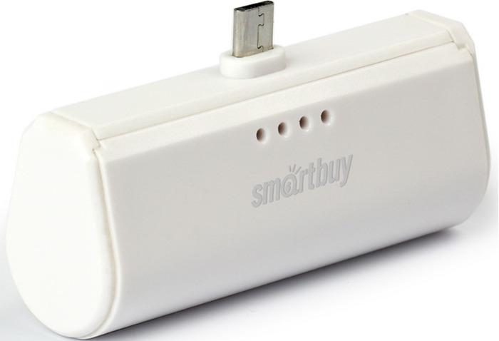 Внешний аккумулятор SmartBuy TURBO SBPB-210, 2200 мАч, White внешний аккумулятор smartbuy utashi x 5000 sbpb 505 черный