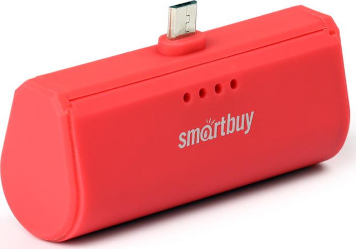 Внешний аккумулятор SmartBuy TURBO SBPB-230, 2200 мАч, Red внешний аккумулятор smartbuy utashi x 5000 sbpb 505 черный