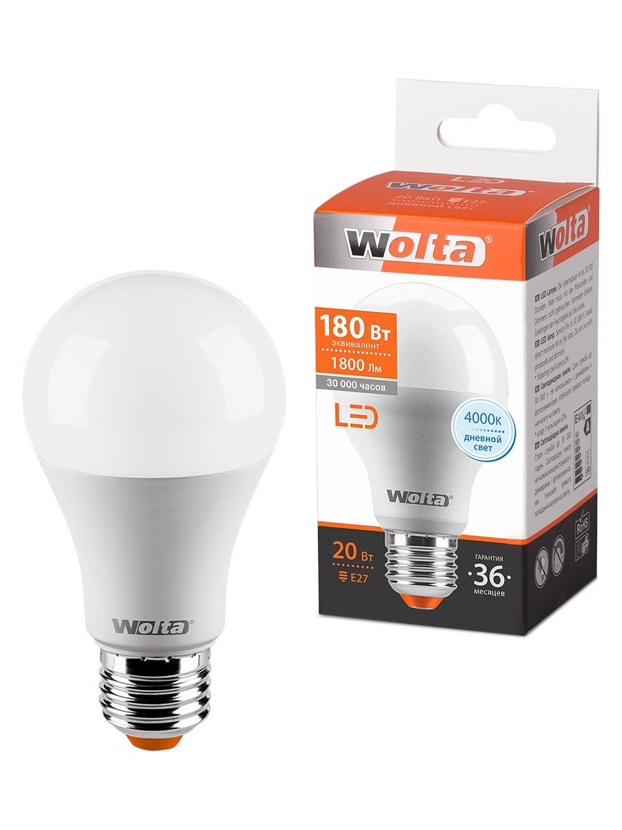 лампочка ecola classic led premium 20w a65 220 240v e27 6500k d7rd20elc Лампочка WOLTA 25S65BL20E27, 20W, E27, Дневной