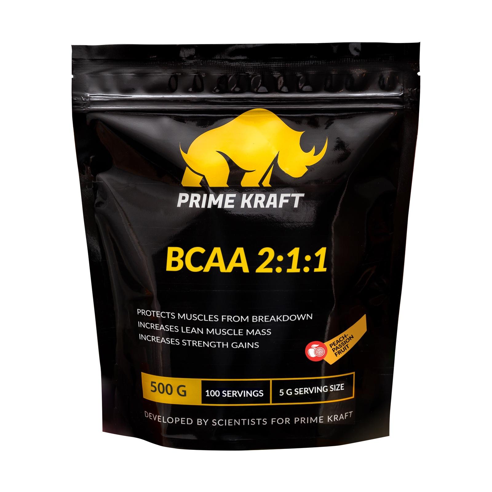 BCAA Prime Kraft персик-маракуйя 500 гр, 500 творожок чудо воздушный персик маракуйя 4 2