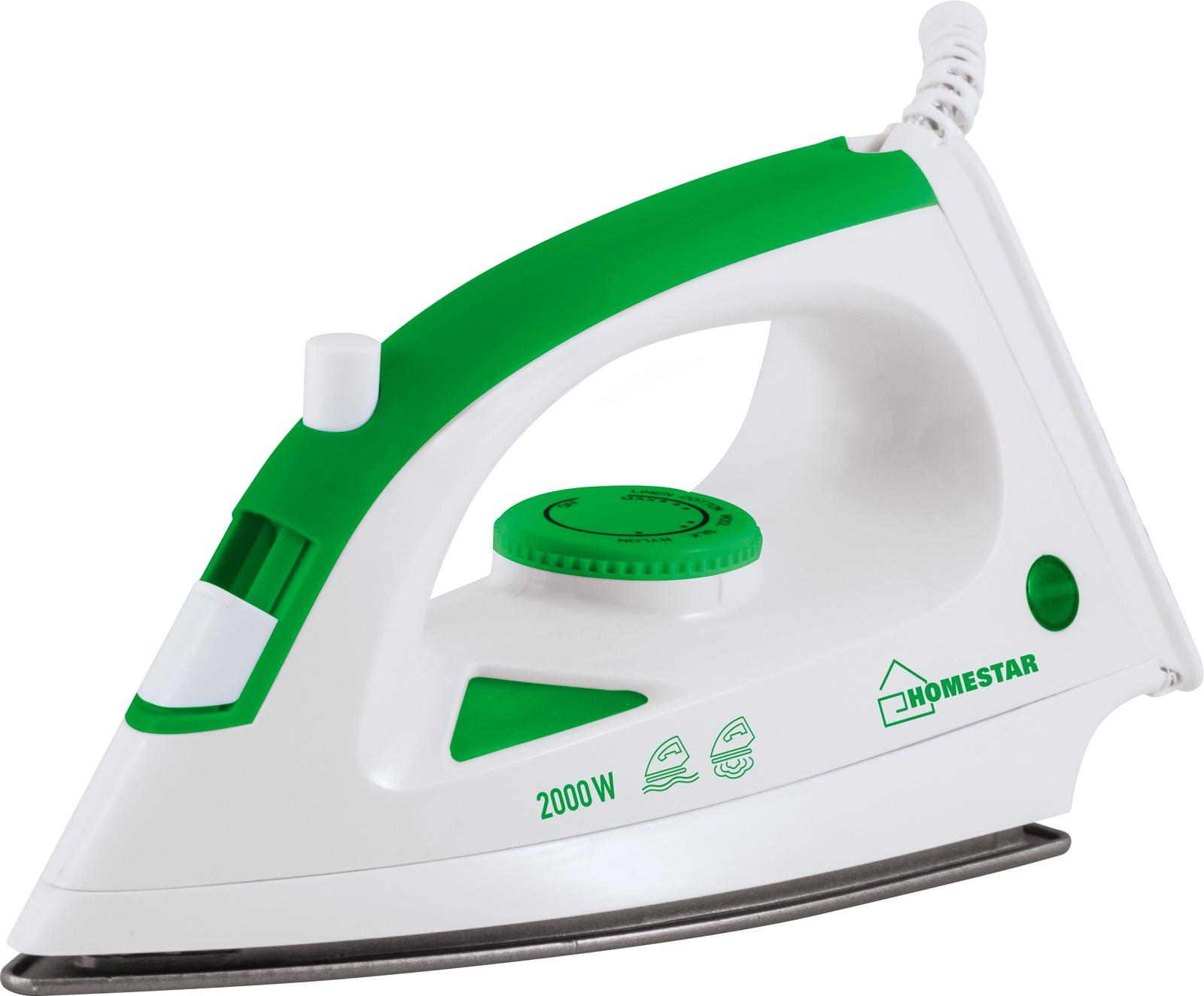 Утюг HOMESTAR HS-4001, 54 004837, белый, зеленый цены