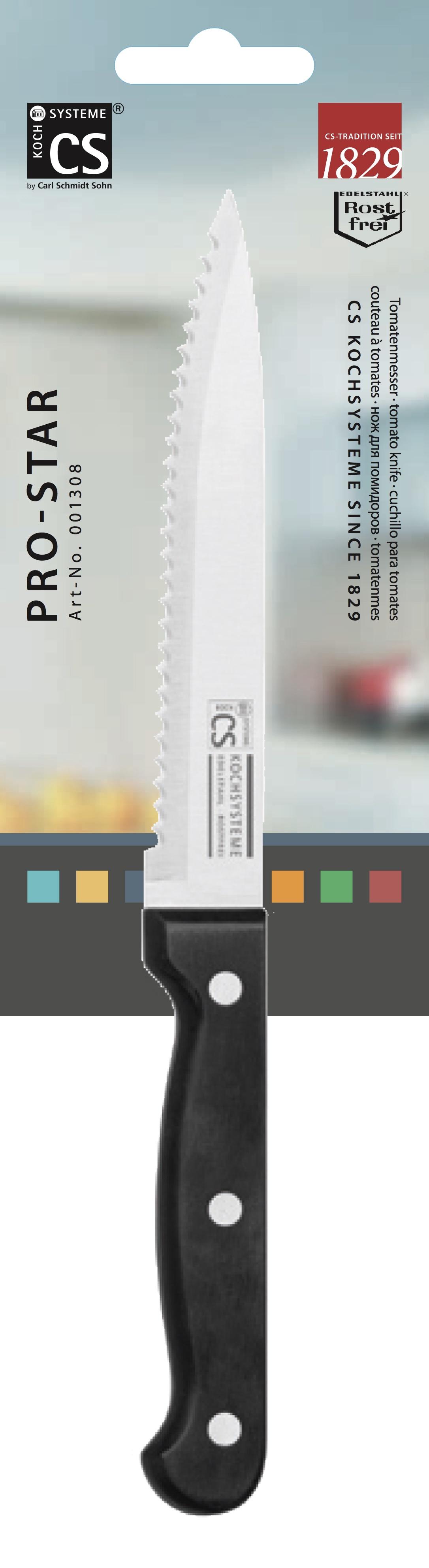 Кухонный нож CS-KOCHSYSTEME CS001308, черный