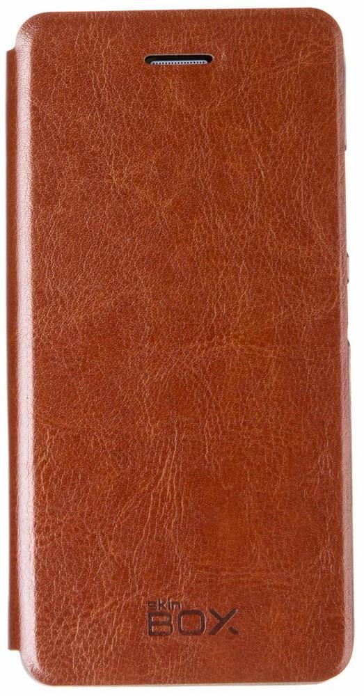 Чехол для сотового телефона skinBOX Lux, 4660041406719, коричневый