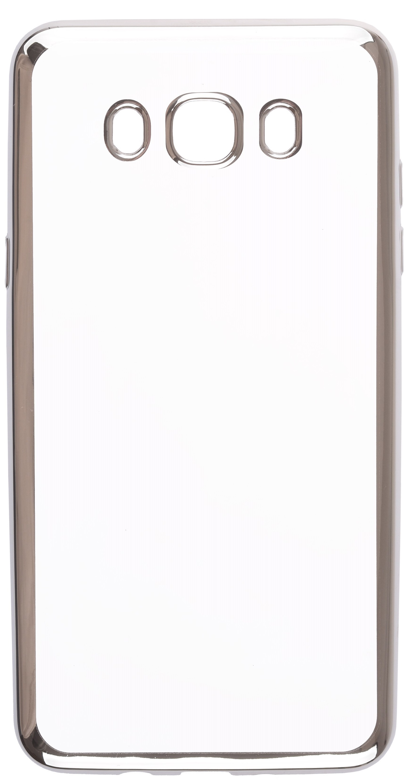 Чехол для сотового телефона skinBOX Silicone chrome border, 4660041407952, серебристый чехол для сотового телефона skinbox silicone chrome border 4630042528697 серебристый