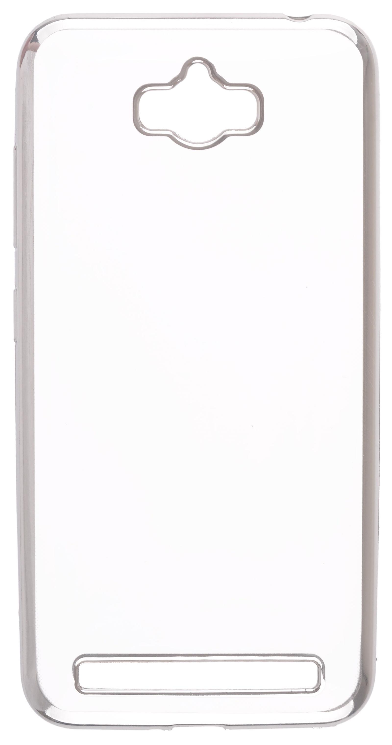 Чехол для сотового телефона skinBOX Silicone chrome border, 4660041407969, серебристый цена