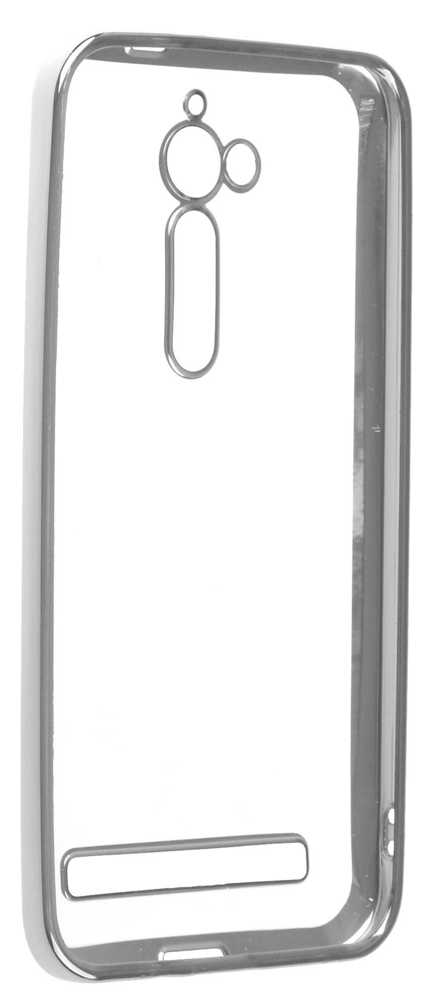 Чехол для сотового телефона skinBOX Silicone chrome border, 4660041408188, серебристый чехол для сотового телефона skinbox silicone chrome border 4630042524514 серебристый