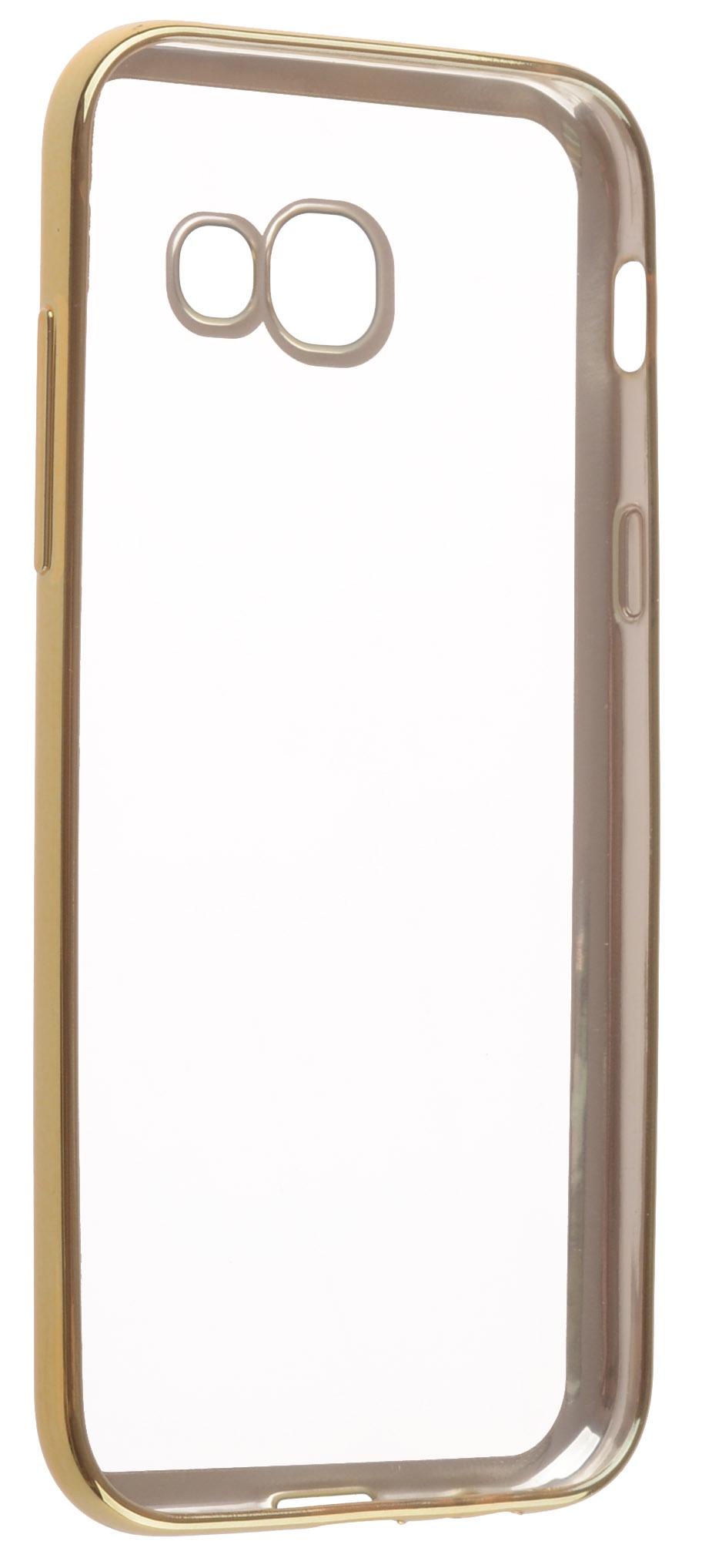 все цены на Чехол для сотового телефона skinBOX Silicone chrome border, 4660041408225, золотой онлайн