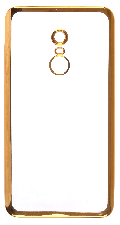Чехол для сотового телефона skinBOX Silicone chrome border, 4660041408232, золотой аксессуар чехол накладка innovation silicone 0 33mm для apple iphone 5 5s transparent 12001