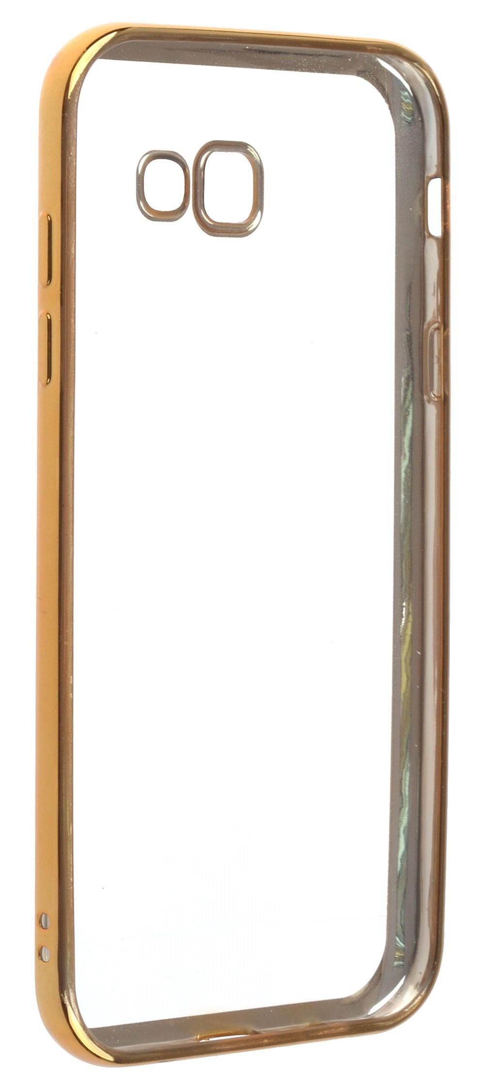 Чехол для сотового телефона skinBOX Silicone chrome border, 4660041408249, золотой аксессуар чехол накладка innovation silicone 0 33mm для apple iphone 5 5s transparent 12001