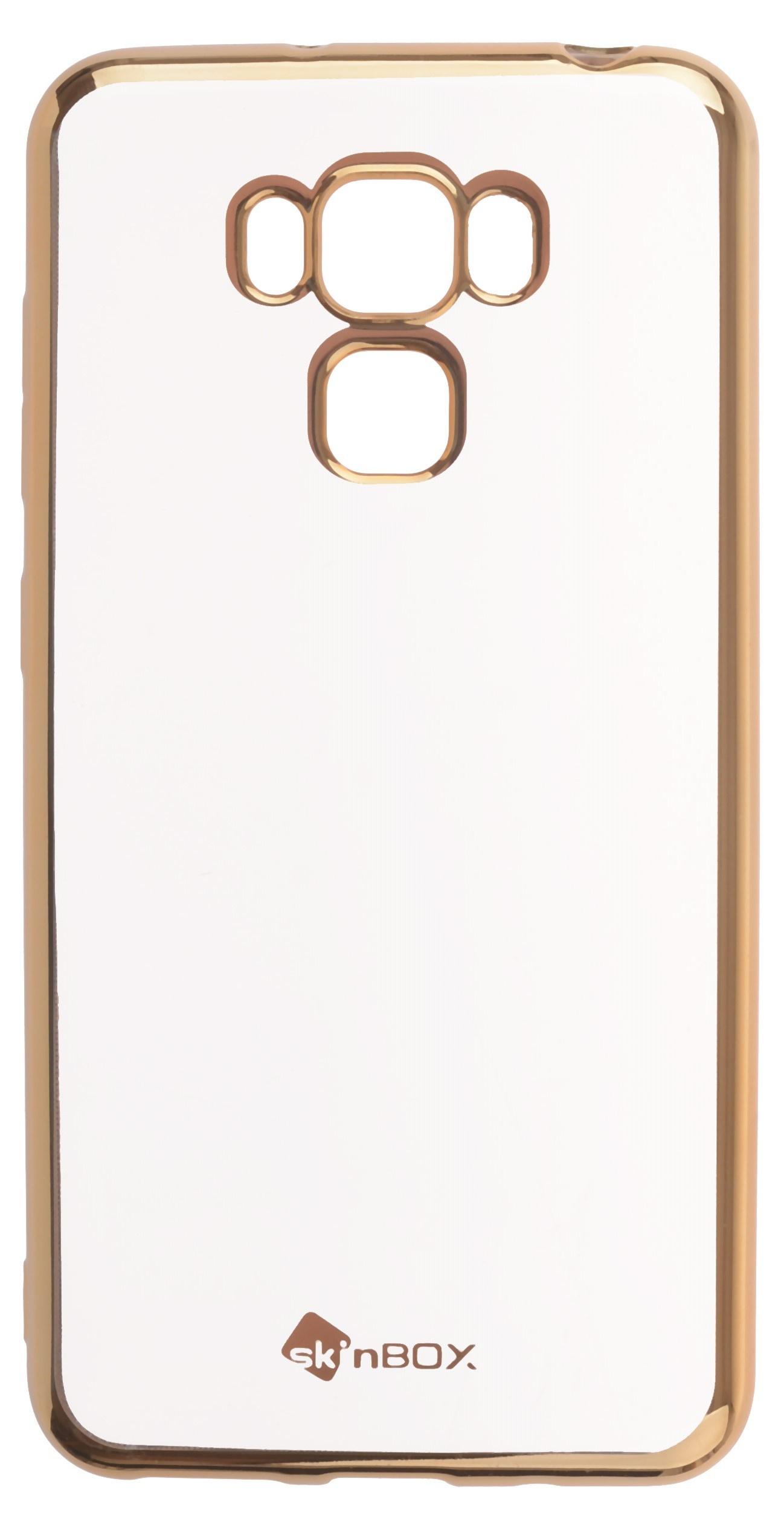 Чехол для сотового телефона skinBOX Silicone chrome border, 4660041408379, золотой skinbox silicone chrome border 4people чехол для xiaomi redmi 4 silver