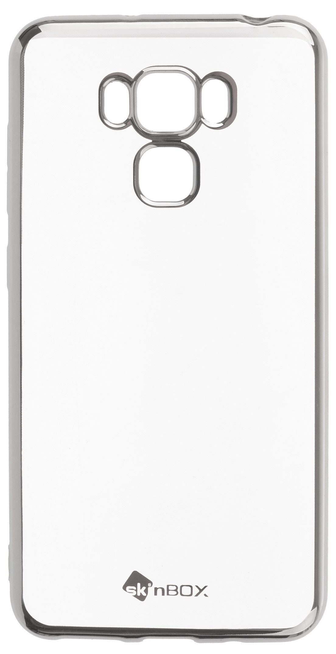 Чехол для сотового телефона skinBOX Silicone chrome border, 4660041408362, серебристый чехол для сотового телефона skinbox silicone chrome border 4630042528697 серебристый