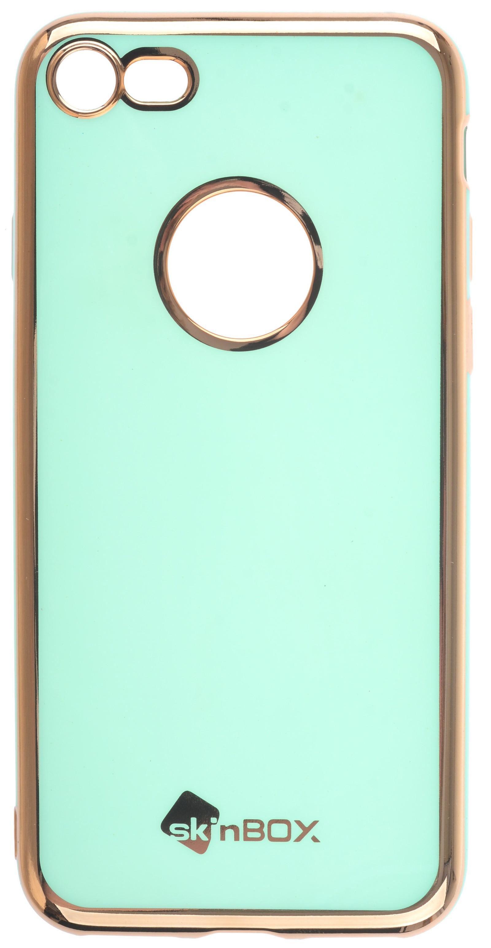 Чехол для сотового телефона skinBOX slim silicone color, 4660041408799, бирюзовый