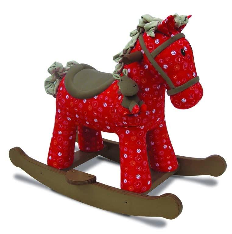 лучшая цена Качалка Little Bird Told Me лошадка детская LB3030 красный