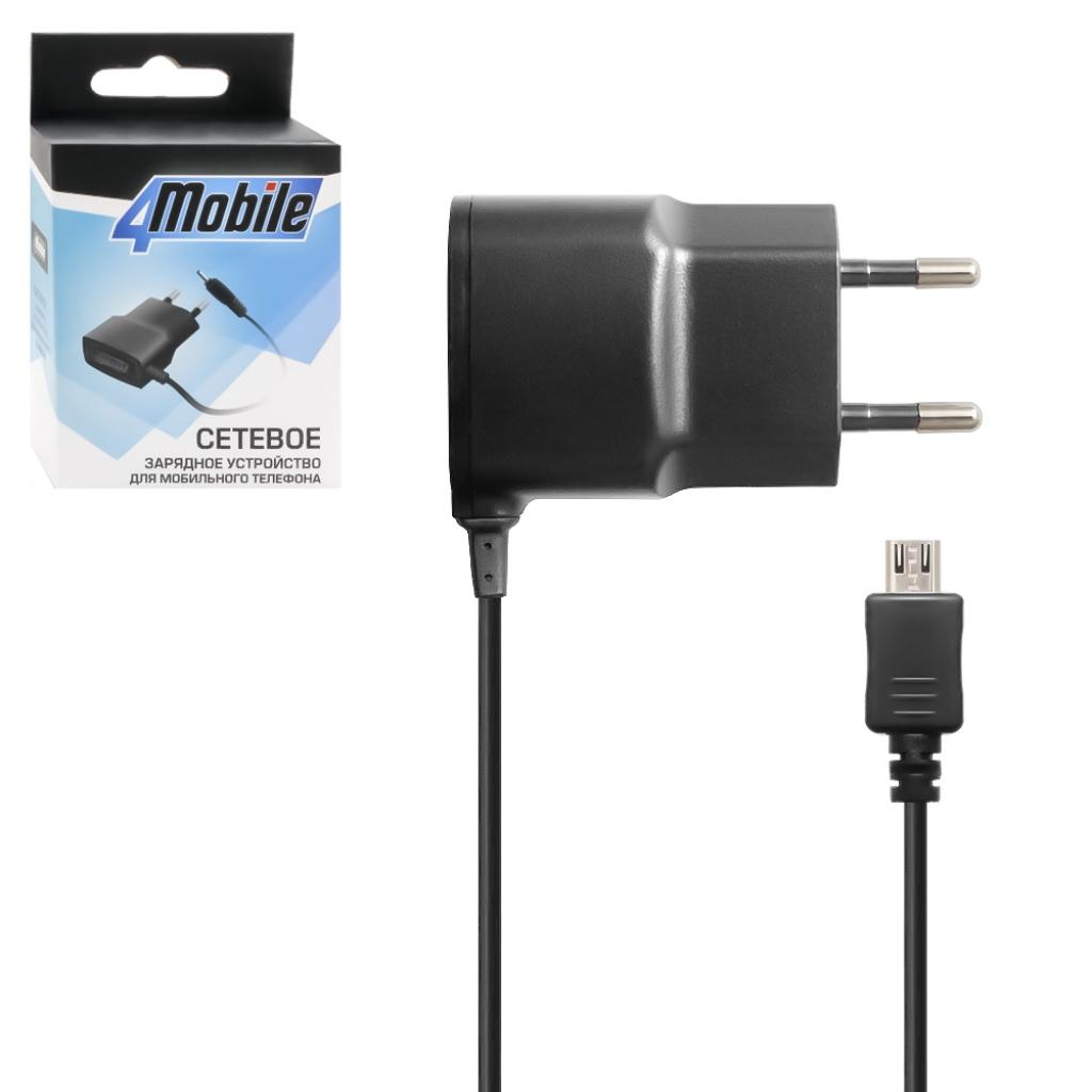 цена на Зарядное устройство 4MOBILE microUSB 0,75A, черный