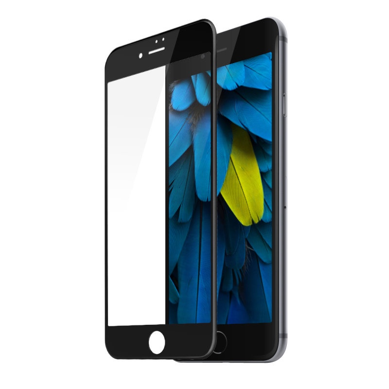 Защитное стекло ТЕХПАК 5D для iPhone 7 Plus / 8 Plus, черный
