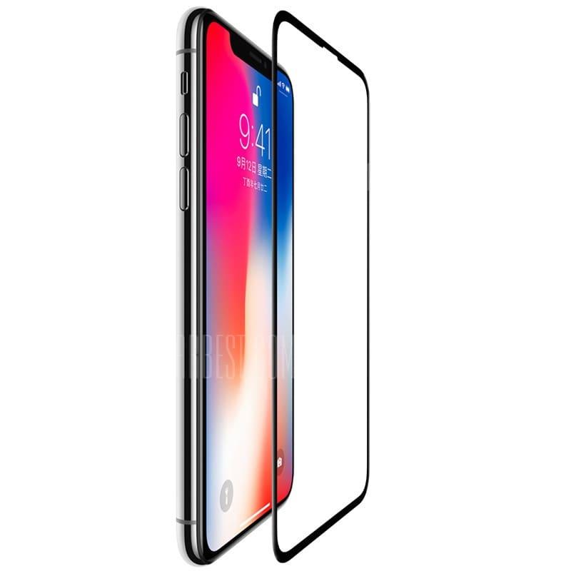 Защитное стекло ТЕХПАК 5D для iPhone XS MAX, матовый, черный