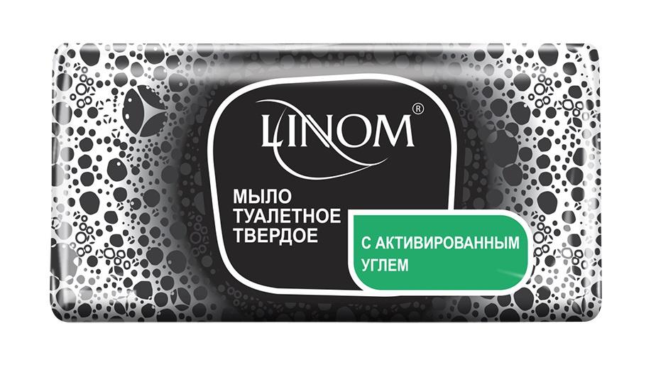 Мыло косметическое LINOM(БЕЛАРУСЬ) Специальное С активированным углем. Добавлена ромашка и оливковое масло. 140 грамм.