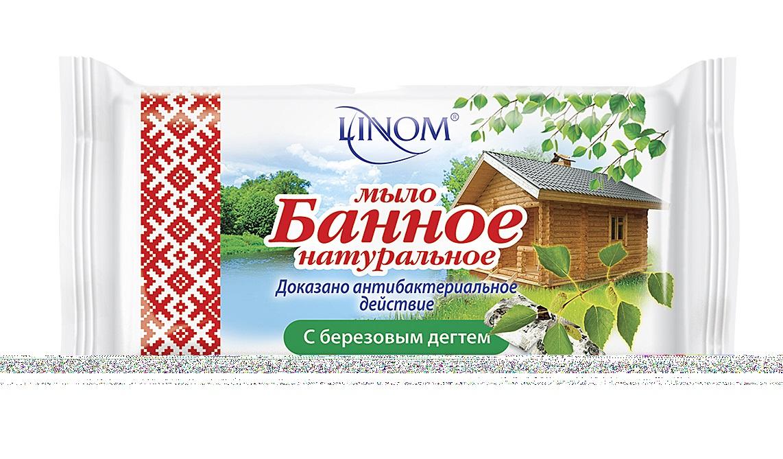 """Мыло туалетное LINOM(БЕЛАРУСЬ) """"С березовым дегтем"""" (дегтярное). Натуральное. Банное. 140 грамм."""