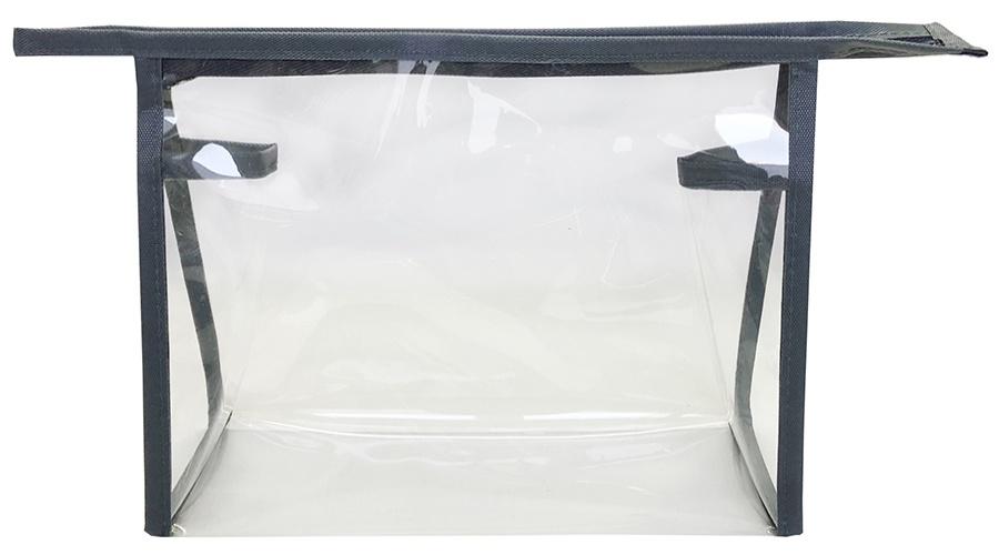 Косметичка SOMMOS женская прозрачная серая, СОМ-120032, прозрачный косметичка sommos женская темно синяя черная сом 250001015 1 темно синий черный
